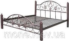 Кровать Адель из металлических труб с элементами ковки, фото 3