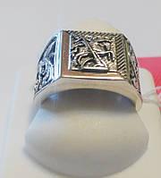 Перстень из серебра Георгий Победоносец, фото 1