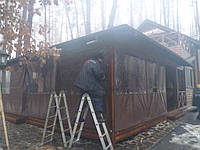 Тент літнього майданчика заміського комплексу, Білогородка, фото 1