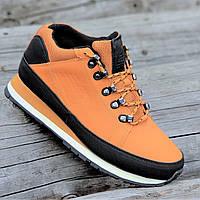 Кроссовки ботинки зимние New Balance 754 реплика мужские кожаные рыжие  легкие удобные (Код  Б1292 cc26457b30955