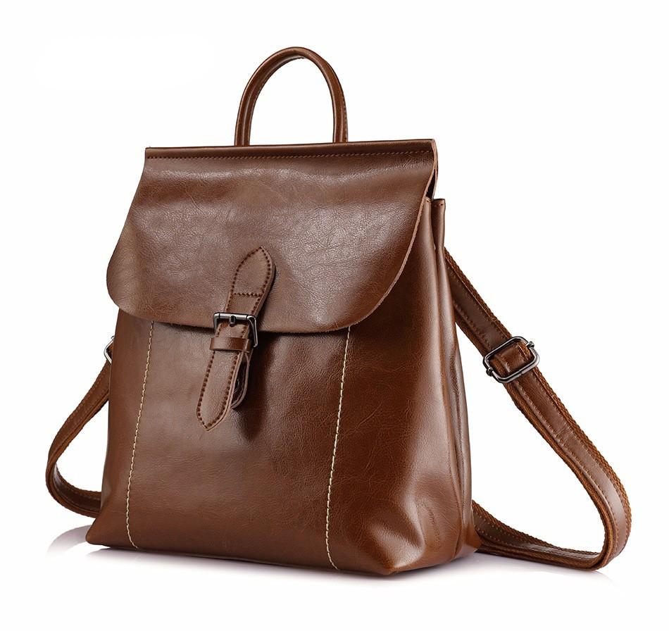 Рюкзак сумка трансформер женский кожаный с пряжкой (коричневый ... 2631653c9b1