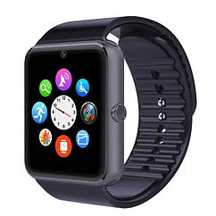 Умные часы Smart Watch Phone мужские GT08 Черный ремешок