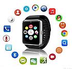 Умные часы Smart Watch Phone мужские GT08 Черный ремешок, фото 3