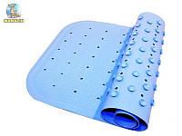 Антискользящий коврик на дно ванной для детей, бирюзовый, в кор. 39*7*7см, Kinderenok XL