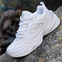 a02ea7b7b Мужские модные кожаные кроссовки Nike M2K Tekno реплика (Nike Air Monarch)  белые легкие и