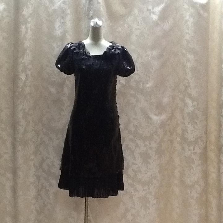 Платье черное в стиле Dolce&Gabbana