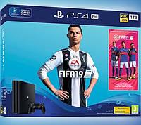 Игровая приставка Sony PlayStation 4 Pro 1TB + игра Fifa 19, фото 1