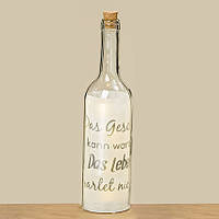 Светодиодная бутылка ночник Фанни прозрачное стекло h30см Гранд Презент 8011100