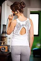 Костюм для дома и отдыха футболка и леггинсы (лосины)  Shirly 4908