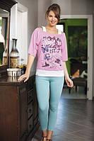 Домашний костюм,комплект для дома и отдыха футболка и лосины (леггинсы) Shirly 4910