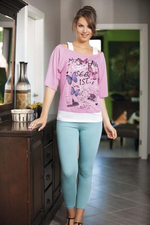 ef7b62f6b4f70 Домашний костюм,комплект для дома и отдыха футболка и лосины (леггинсы)  Shirly 4910.