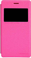 Чехол Nillkin Sparkle Leather Case для Sony Xperia M2 (D2305/D2302/S50h) Hot Pink