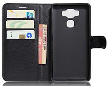 Кожаный чехол-книжка для Asus Zenfone 3 Max ZC553KL черный, фото 2