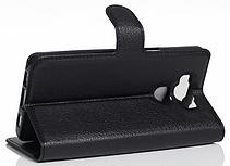 Кожаный чехол-книжка для Asus Zenfone 3 Max ZC553KL черный, фото 3
