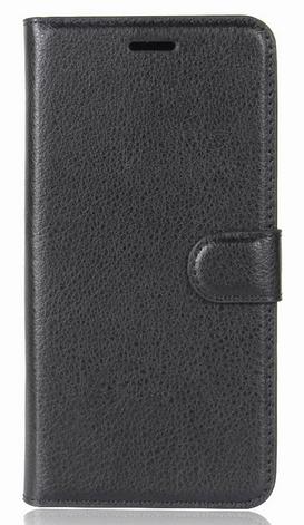 Кожаный чехол-книжка для Asus Zenfone 4 Max ZC554KL черный, фото 2