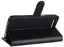 Кожаный чехол-книжка для Asus Zenfone 4 Max ZC554KL черный, фото 3