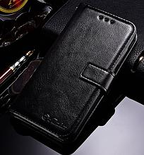Кожаный чехол-книжка для Xiaomi Redmi 5A черный