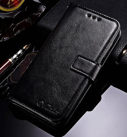 Кожаный чехол-книжка для Xiaomi Redmi 5A черный, фото 2