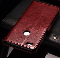 Кожаный чехол-книжка для Xiaomi Redmi Note 5A черный, фото 3