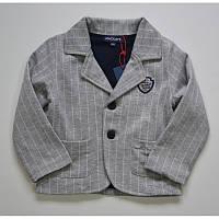 Пиджак серого цвета в полоску для мальчика, MACKAYS