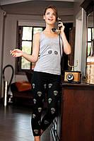 Домашний костюм, комплект для дома и отдыха майка и лосины (леггинсы) Shirly 4912