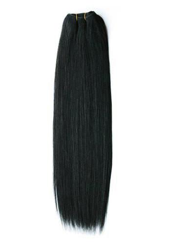 Тресса из натуральных волос 60 см. Цвет #01 Черный, фото 1