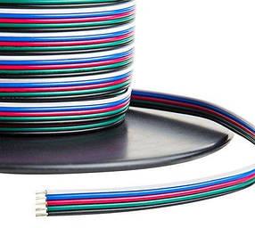 Кабель для светодиодной RGB ленты плоский 5х0.35 (1метр) Код.59370
