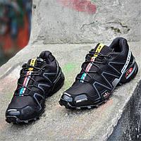 Кроссовки Salomon Speedcross 3 реплика мужские черные легкие для бега (Код: Ш1276a) 42