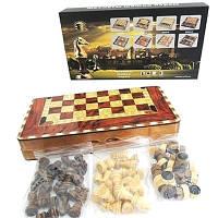 Шахматы, шашки, нарды из дерева (48 х 48см)