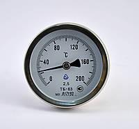 Термометр биметаллический осевой ТБ 63 (200°С)