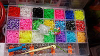 Набор для плетения браслетов Loom Bands(Rainbw Loom) 4200резинок
