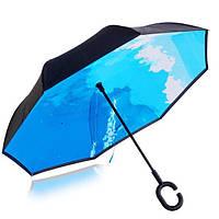 Вітрозахисний Зонт Трость Зворотного Складання Парасольку