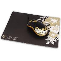Проводная мышь для ноутбука+коврик G-Cube GMLA-206 SS