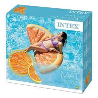Пляжный Надувной Матрас для Плавания и Отдыха Апельсин 178 х 85 см Лежак в Виде Дольки Апельсина