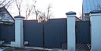 Ворота ковані закриті профнастілом 6970 , фото 1