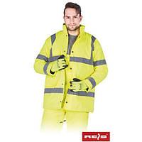 Куртка утепленная сигнальная рабочая K-VIS Y