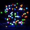 Новогодняя Гирлянда Нить Капля на Проволоке Капелька 40 LED Цвета в Ассортименте от Батареек, фото 4
