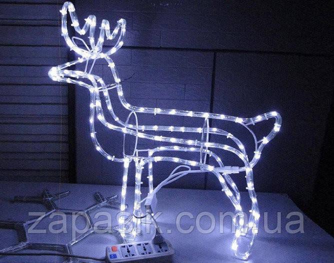 Новогодняя Статуэтка Светодиодный LED Олень 3D Фигура для Атмосферы Нового года Рождества 60 см