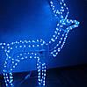 Новогодняя Статуэтка Светодиодный LED Олень 3D Фигура для Атмосферы Нового года Рождества 60 см, фото 2
