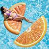 Пляжный Надувной Матрас для Плавания и Отдыха Апельсин 178 х 85 см Лежак в Виде Дольки Апельсина, фото 5