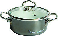 Кастрюля эмалированная Bon appetit 1,5 л.(стальная посуда Vitross)
