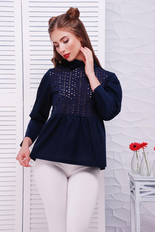 55fe0344cf9 Рубашка с прошвой в стиле кежуал