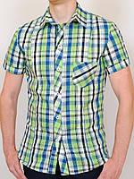 NEVADA рубашка клетка-салатовый #R/A