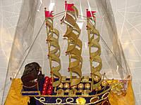 """Корабль из конфет """"Сладкий сундук"""""""