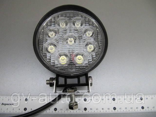 Дополнительная фара 27 Вт.LED GV1205-27W на трактор. https://gv-auto.com.ua, фото 1