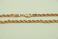 Позолоченные цепочки жгутики оптом, ювелирная бижутерия (55 см). 1