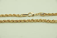 Позолоченные женские цепочки, жгутики оптом, ювелирная бижутерия (55 см). 5