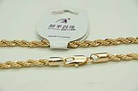 Позолоченные женские цепочки оптом из ювелирной бижутерии (78 см). 4