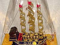 """Корабль из конфет для ребенка """"Сладкий сундук"""""""