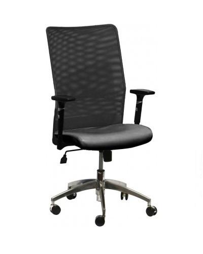 Кресло АЭРО Люкс сиденье Неаполь 20/спинка Сетка черная.